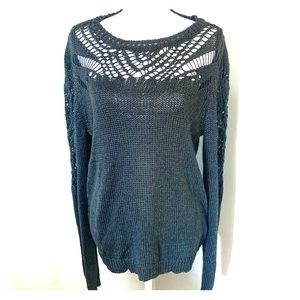 Lucky brand scoop neck knit sweater